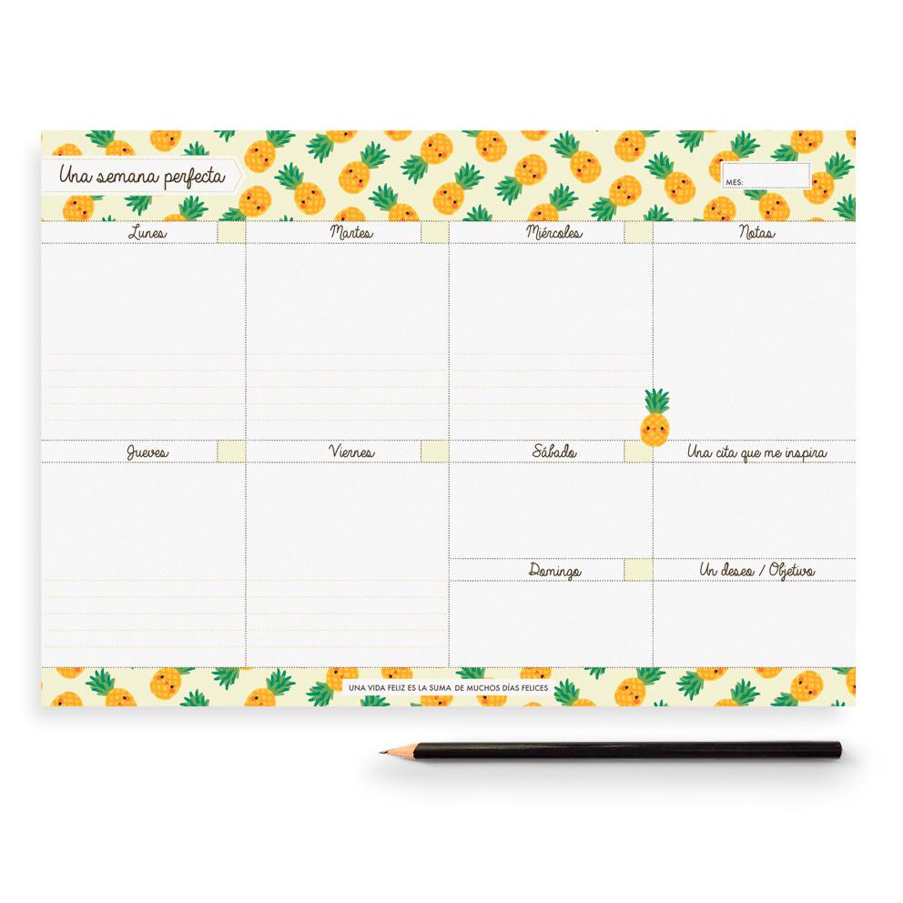 Planificador semanal piñas